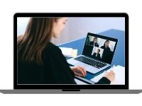 Conduct secure interviews with our web conference tool